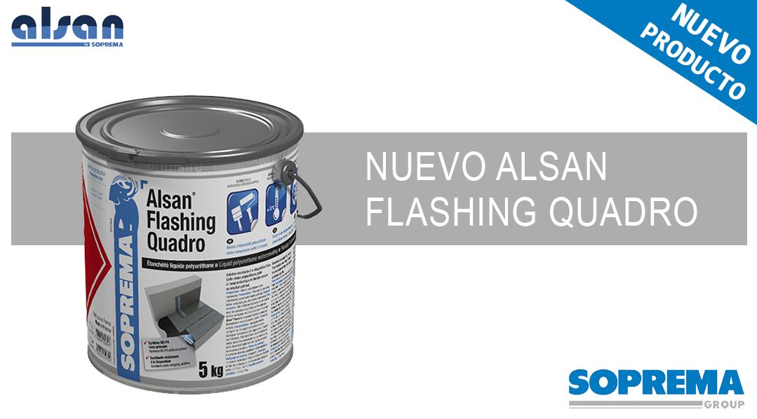 ALSAN FLASHING QUADRO el compañero ideal para el profesional de la impermeabilización.