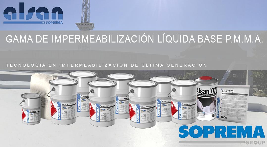 Gama de impermeabilización líquida base PMMA (Polimetilmetacrilato)