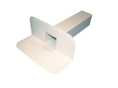 DESAGÜE LATERAL RECTANGULAR PVC